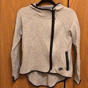 Asymmetrical zip Nike sweater